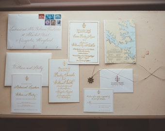 Wedding Invitation Hand-Lettered Calligraphy