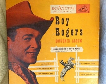 Vintage Roy Rogers 45 records Souvenir Album, RCA Victor smart set, Songs from Six of Roy's Movies
