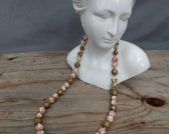Vintage Costume Jewelry, Necklace and Clip-on Earrings