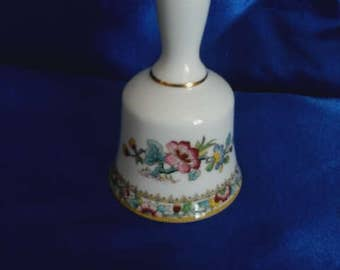 "Coalport China Bell ""Ming Rose"""