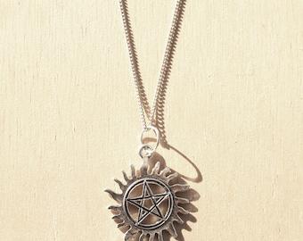 Sun Pentagram Charm Necklace