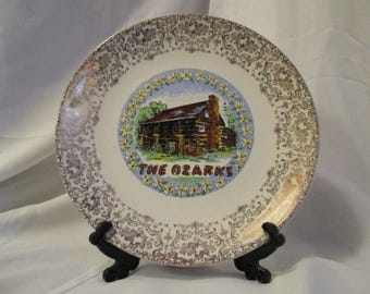 Vintage The Ozarks Decorative collectible plate