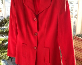 Red wool blazer by Petite Sophisticate size 6