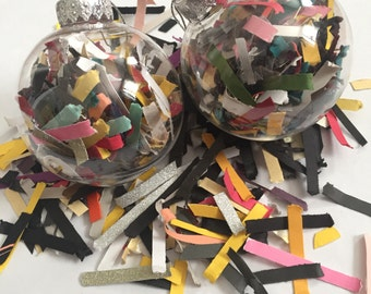 Recycled Confetti Ornament