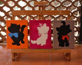 The AristoCats-Bizet Minou Matisse-painting on canvas-acrylic-inspired Disney