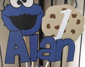 Cookie Monster Centerpiece, Sesame Street Centerpiece, Sesame Street Party, Cookie Monster Party