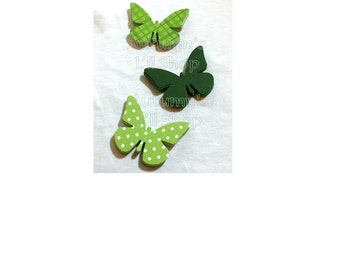Butterfly Die Cut, Shades of Green Butterflies, Butterfly Shower Confetti, Butterfly Tag, Paper Butterflies, Cardstock Butterfly Cutout, 60