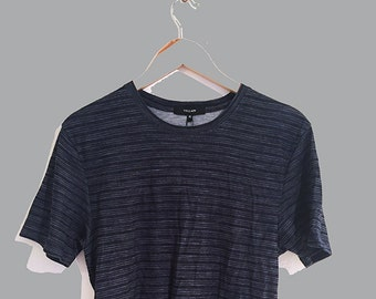 Knitted fine stripe t-shirt