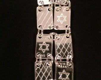 Star of David .999 Fine Silver Bracelet
