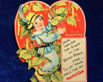 1940's Valentine Jack and the Bean Stalk Mechanical Beautiful Art
