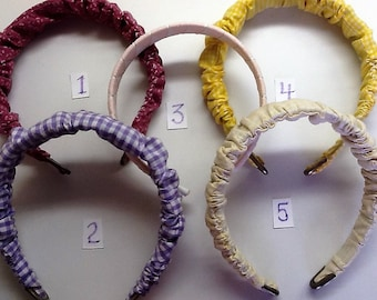 Covered Head Bands, Vintage