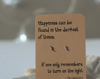 Harry Potter Dumbledore quote earrings