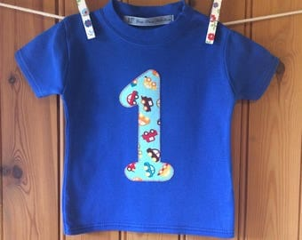 1st birthday * baby boy 1st birthday outfit *boys birthday t shirt *initial/letter/age tshirt *personalised *long sleeves *Yew Tree Stitches