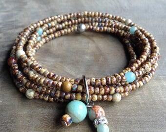 Bohemian bracelet boho chic bracelet gypsy womens jewelry hippie bracelet boho chic jewelry rustic bracelet wrap bracelet boho bracelet
