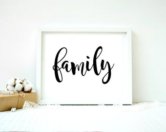 Family poster, Family print, Family printable, Family word art, Family quote prints, Family wall quotes, Family quote signs,