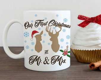 Our First Christmas as Mr and Mrs Coffee Mug - Newlywed Christmas Cup