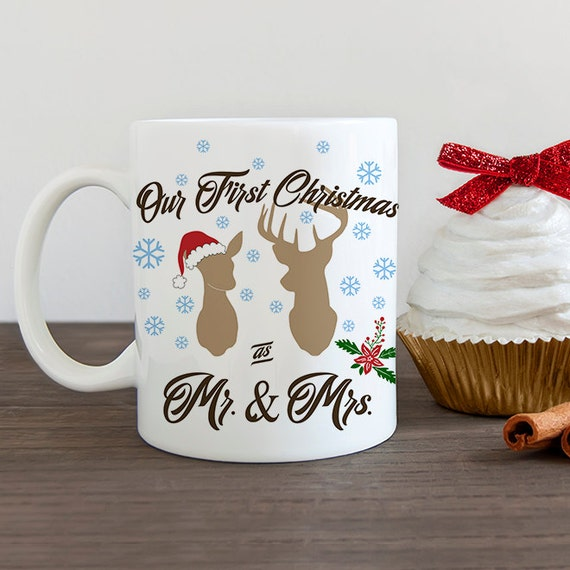 Our First Christmas as Mr and Mrs Coffee Mug - Newlywed Christmas Cup