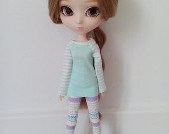 Colorful leggings for pullip and dal stock body