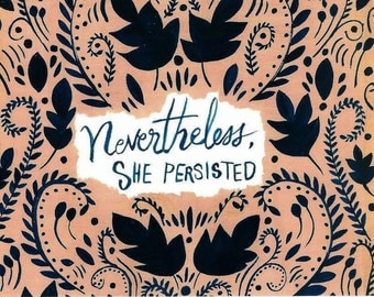 She Persisted postcards - hand painted set of five 5.5 x 4.25