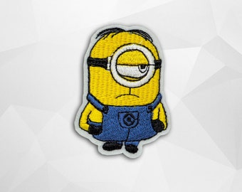 Minions Iron on Patch(M2) - Minions Applique Embroidered Iron on Patch- Size 4.5x6.2 cm