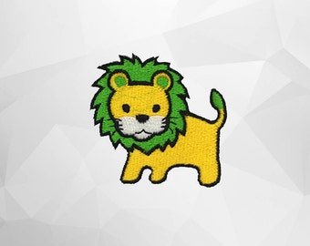 Lion Iron on Patch(M1) - Lion Cartoon  Applique Embroidered Iron on Patch - Size 5.3x5.1cm