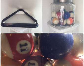 Full Set of Pool Balls with Triangle