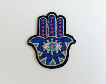 Hand patch, Iron on patch, Small patch, Hamsa patch, eye patch, Small iron on patch