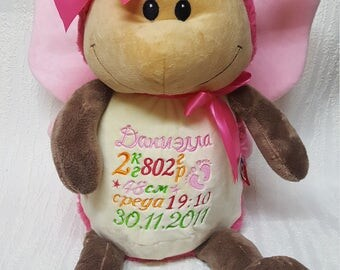 Butterfly Personalised Baby Gift Soft Toy, Teddy Bear, Gift ,Newborns, Christmas ,Christening ,Keepsake