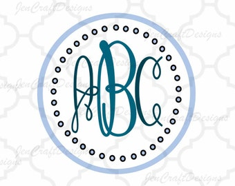 Interlocking Monogram Font Cutting Files, Circle font SVG , DXF, EPS, Free frames Cricut Ds, Silhouette,Fancy Circle Monogram Svg Font