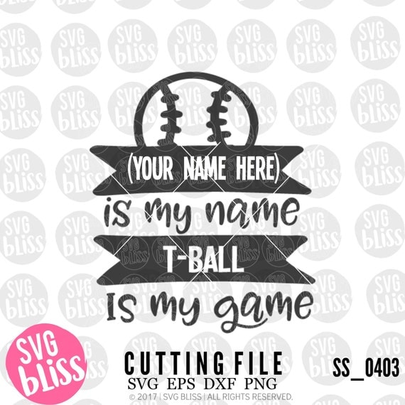 T Ball Svg T Ball Cutting File For Cricut Or Silhouette Svg
