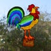 Rooster-  Chicken- Rooster decor- Rooster sun catcher- Kitchen tile decal- Kitchen rooster- Kitchen cockerel- Rooster art.