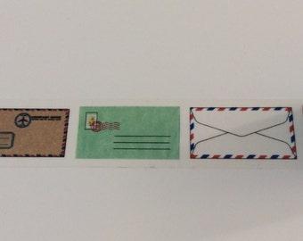 Vintage Air Mail Washi Tape -Junk Journal-Journal-Art Journal-Midori Travelers Notebook