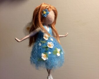 Needle felted Waldorf inspired Home decor Mobile Little Fairies