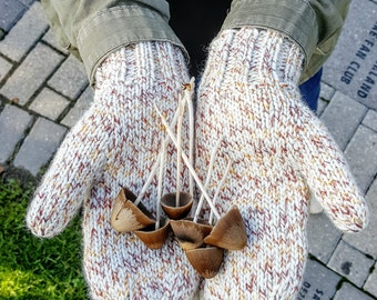 Knit Mittens, Knit Gloves, Handmade Mittens, Knit Mitts, Women's Mittens, Gift for Her, White Mittens