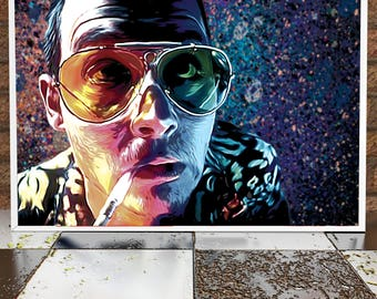 Johnny Depp - Fear And Loathing In las Vegas - Illustration Poster Print - Hunter Thompson - Movie Poster- Film Poster