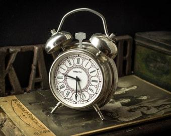 "Vintage Alarm Clock made by Soviets, alarm clock - made nice alarm clock ""ROCKET"" (Raketa) in perfect working order"