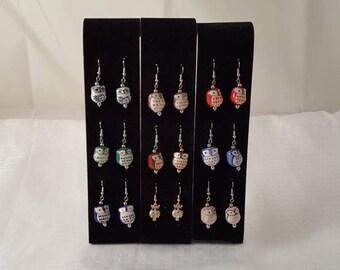 Owl Earrings - Bird Earrings - Owl Jewelry - Colorful Owl Earrings - Colorful Bird Earrings - Owl - Bird - Women's Earrings - Girls Earrings