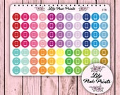 77 Cell / Mobile Phone Icon Stickers C-78 - Perfect for Erin Condren Life Planners / Journals / Stickers.