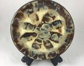 Appetizer Serving Plate, Ceramic Plate, Round Plate, Handmade, Stoneware Clay, Hand Built Pottery, Platter, Hostess Gift, Housewarming Gift