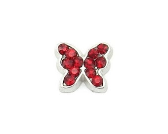 January Butterfly Birthstone Floating Charm