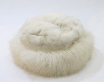 Real Fox and Mink Fur Hat,Winter hat, Fashion Hats,real fur hat,fox hat,fur hat, warm hat, fluffy hat, furry hat, girls hat F520