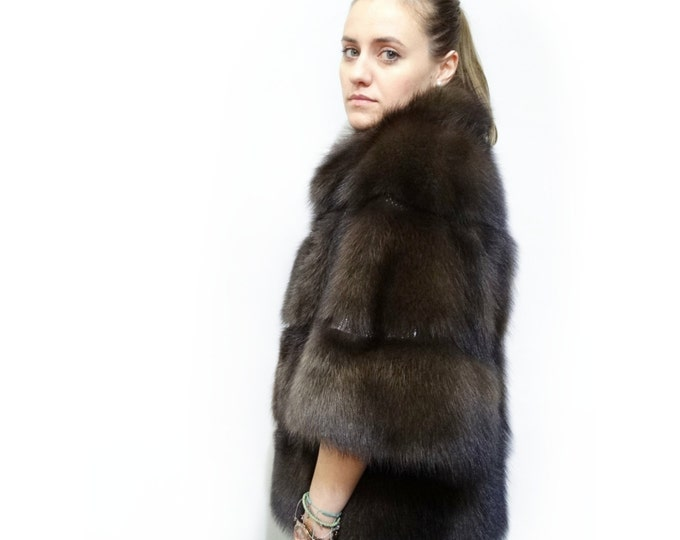 Fashionable Winter Fur Jacket, Real Fisher Fur Coat F381