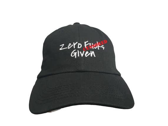 Adults Only - Zero F%#ks Given - Polo Style Ball Cap (Various Colors with White Stitching)