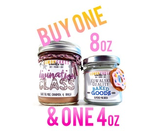 Buy One 8oz & One 4oz  - Book Candles - Fandom Candles - LemonCakes Candle Co