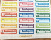 36 Dentist Appointment Stickers | Ideal for planners, calendars