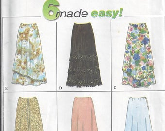 Simplicity 8416 Sewing Pattern for Ladies Skirts Sizes 6 8 10, Six Variations, Uncut