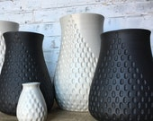 custom order-black clay planter