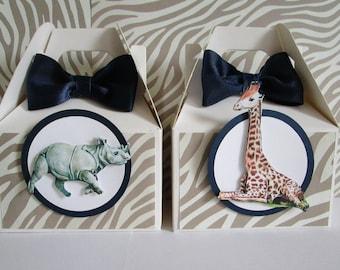 Safari Favor Boxes, Zoo Favor Boxes, Safari Baby Shower Favor Boxes, Zoo Baby Shower Favor Boxes, Favor Boxes, Safari Party Favors Qty 10
