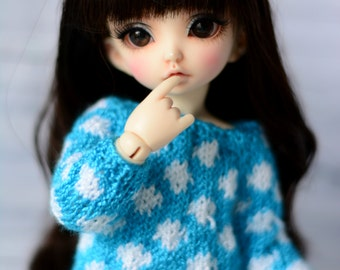 sweater for littlefee yosd bjd dolls tunic with dots
