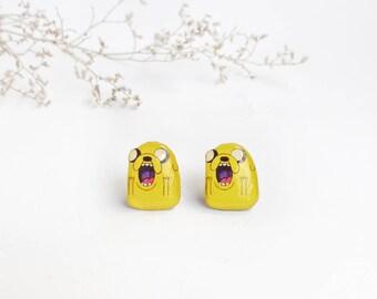 Jake the dog studs , Adventure time studs , Anime studs , jake the dog accessories